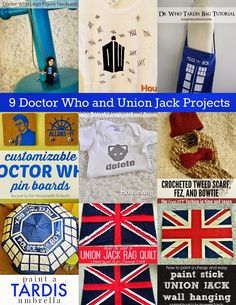 Housewife Eclectic: 9 Doctor Who and Union Jack Projects