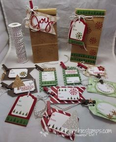 Stamp & Scrap with Frenchie: Under the tree Gift tag Class in the mail
