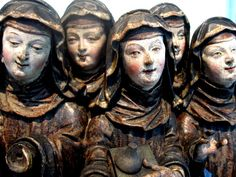 The one above (a collection of Nuns carved in Germany around 600 years ago) looks like the carver wanted to display the subjects as full of joy and fun. I wonder if people disapproved? From the William Burrell collection.