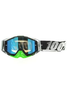 100 Percent Metal Lime Racecraft Mirror Blue Lens MX Goggle | 100 Percent | FreestyleXtreme