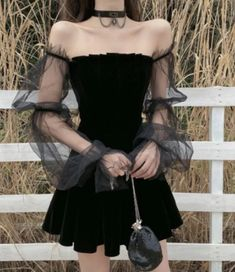 Emo Dresses, Cheap Dresses, Gothic Lolita Dress, Vintage Summer Dresses, Cheongsam Dress, Mini Dress With Sleeves, Alternative Outfits, Mesh Dress, Clubwear