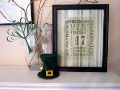 Craft, Interrupted: Leprechaun Hat & Other St. Patrick's Decor