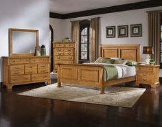 Royal Elegant Solid Wood Traditional Post Bedroom Set in Cherry by ...