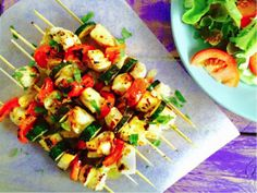 These BBQ chicken skewers are simple to make and delicious to share! The sauce gives the chicken skewers a beautifully sweet and tangy lemon flavour. Just remember to soak your wooden skewers in a bowl of water for at least 20 minutes before using otherwise you might set them on fire!
