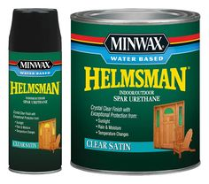 Minwax® Water Based Helmsman® Spar Urethane, clear finish for light colored wood stains, heavy duty protection for kitchen table or bar top.