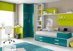 Foto: ¿Que os parece esta preciosa habitación juvenil de Ros? Small Space Interior Design, Home Room Design, Kids Room Design, Bed Design, Kids Bedroom Furniture, Bedroom Decor, Kids Bedroom Designs, Home Office Decor, Home Decor