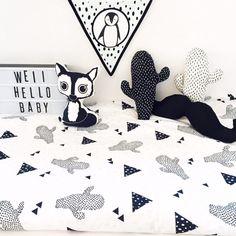 Modern Kids Bedroom, Childrens Bedroom Furniture, Baby Cot Sets, Cot Duvet, African Babies, Monochrome Nursery, Cat Pillow, Unisex Gifts, Cute Fox