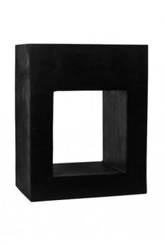 Fiberstone plantenbak Hole in One, 100 cm hoog, in zwart of grijs.
