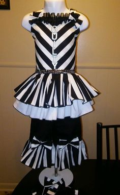 National Pageant Casual Wear Jail House Rock OOC 18 month-3t #Handmade #DressyEverydayHoliday