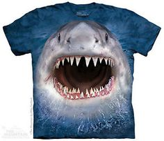 THE MOUNTAIN WICKED NASTY SHARK WEEK ANIMAL FOREST NATURE PET T TEE SHIRT S-5XL