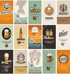 Beer card vector 1077502 - by paseven on VectorStock®