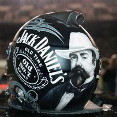 Clint Bowyer Jack Daniels NASCAR helmet