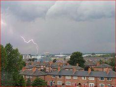 Lightening 7. Newton Heath. Manchester. UK. By Tony Cordingley
