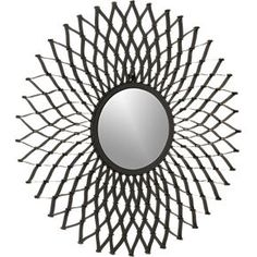 Dahlia Wall Mirror in Wall Art   Crate and Barrel