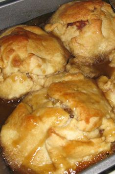 Dessert doesn't have to be fancy to be good, these are always tasty and super easy!! #dessertrecipe #appledessert #appledumplings via @Flavoritenet