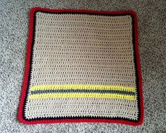 crochet newborn firefighter inspired blanket, firefighter blanket, newborn blanket, newborn photos, blanket only other props not included by NissCrochetingShop on Etsy