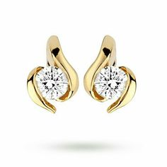 86e14848e74c Yellow Gold Diamond Knot Stud Earrings is available to buy online with  Fast