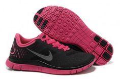 Nike Free 4.0 V2 Womens Black Peachblow Running Shoes