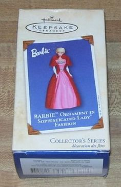 $23.49 2002 Hallmark Keepsake Ornament Barbie in Sophisticated Lady Fashion Collector's Series  From Hallmark Keepsake Ornament   Get it here: http://astore.amazon.com/ffiilliipp-20/detail/B001HDXK3S/192-1433743-7667248