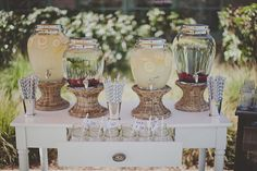 Perfect vintage drink station! http://su.pr/1MltqX ~ Photography by studiocastillero.com