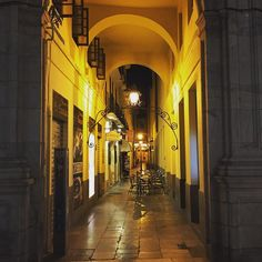 Night out #Malaga #Spain #architecture #road #night