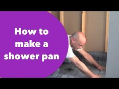 "How to waterproof and tile walk-in tile shower DIY- step by step instructions - part ""1"" of 2 - YouTube"