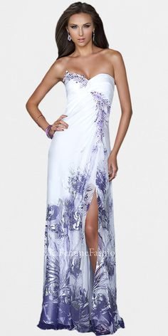 La Femme style 19133 - floral print - prom dress - homecoming ...