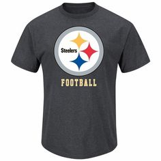 "Pittsburgh Steelers Majestic ""D-Back Duo II"" Heathered T-Shirt - Charcoal"