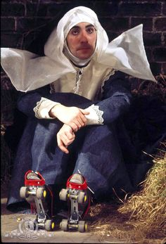 Keith Moon. As a nun. In roller skates. Official MGM publicity photo for 200 Motels, released November 1971.