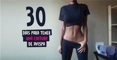 30 días para una cintura que envidiarán las avispas. Shrink your waist with these workouts you can do in your home