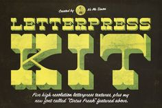 Best Letterpress Kit 1 CreativeWork247 - Fonts, Graphics, Themes, Templates...