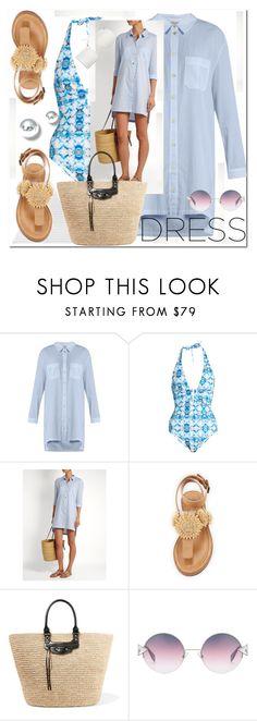 """shirtdress"" by ilona-828 ❤ liked on Polyvore featuring Bettye, Balenciaga, Fendi, Kenneth Jay Lane and Summer"