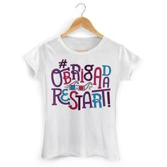 Camiseta Feminina #ObrigadaRestart Camiseta em homenagem à banda que deu início à bandUP! #ObrigadaRestart #RIPRestart #ValeuRestart #gameover