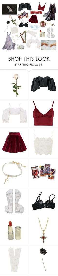 """heaven from hell"" by ourfallenroses ❤ liked on Polyvore featuring Sia, E L L E R Y, Alessandra Rich, Lipsy, Chicwish, Topshop, Kipling, Agent Provocateur and Sachin + Babi"