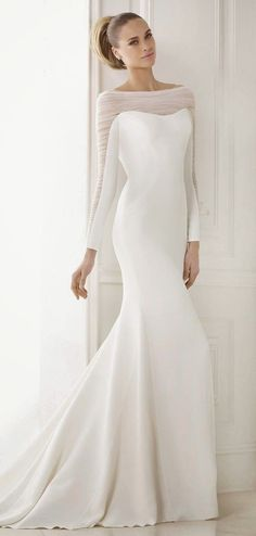 Clean, chic wedding dress | Pronovias 2015 Bridal Collections