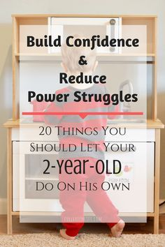 Build Confidence & Reduce Power Struggles: 20 Things To Let Your 2-Year-Old Do On His Own by FullGreenLife | With a Montessori teach-to-do-for-himself mindset, these tasks are all manageable for a 2-year-old with minimal help, and can help make for a smoother day for parent and child!