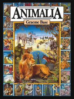 Animalia by Graeme Base. An ABC book for older kids--intricate pictures full of images starting with the letter in question.