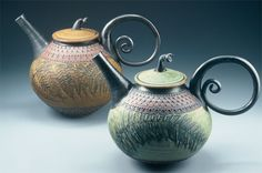 Beautiful Suzanne Crane pottery. ... I know I would never be able to afford even a small teapot of hers, but I really love to see what all she has done, Suzanne is truly an artist!