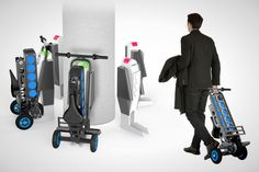 Who Needs Cars When You've Got Fold-Up Scooters  Electric Bikes? via Brit + Co.