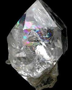 Quartz var. Herkimer Diamonds | #Geology #GeologyPage #Mineral  Locality:Diamond Acres (Hastings Farm) Fonda Montgomery County New York  Size: 28 x 20 x 17 mm  Photo Copyright  JohnBetts Fine Minerals  Geology Page www.geologypage.com