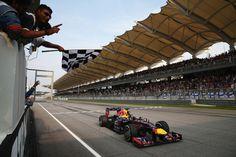 Round 2, Petronas Malaysian Grand Prix 2013, Race Winner, Sebastian Vettel (1h38m56.681), Infiniti Red Bull Racing