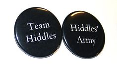 Hiddles' Army or Team Hiddles pin by BayleafButtons on Etsy, $1.15 #tom #hiddleston