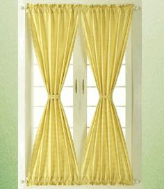 yellow gingham french door curtains Best Picture For internal french doors For Your Taste You are looking for something, and it is going to tell you exactly what you are looking for, and you didn't fi Blinds For French Doors, French Door Curtains, Diy Curtains, External French Doors, Bedroom Door Decorations, Patio Door Coverings, Craftsman Front Doors, Traditional Front Doors, Double Sliding Barn Doors