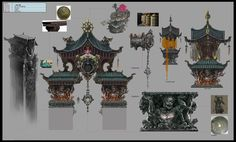 ArtStation - A Chinese Ghost Story, tryo 汪春阳 Japan Architecture, Chinese Architecture, Futuristic Architecture, Ancient Architecture, Architecture Office, Environment Painting, Environment Concept Art, Environment Design, Chinese Buildings