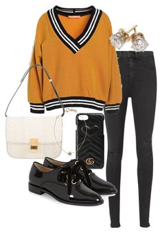 A fashion look from September 2017 featuring orange shirt, ripped skinny jeans and patent leather shoes. Browse and shop related looks. Chill Outfits, Cute Casual Outfits, Teen Fashion Outfits, Retro Outfits, Aesthetic Grunge Outfit, Outfit Invierno, Mode Kpop, Indian Designer Outfits, Harajuku Fashion