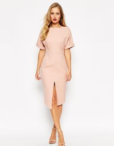 Image 1 of ASOS Structured Split Front Wiggle