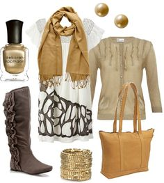 """""""camel & brown"""" by htotheb on Polyvore"""
