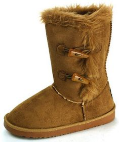 Alpine Swiss Womens Shearling 2 Toggle Button Fur Boots On Sale $24.99! #Warm&Comfy #Sale