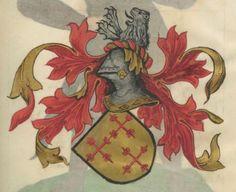 Armorial de la Table ronde.  Date d'édition :  1490-1500  Ms-4976  Folio 103r