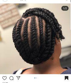 Flat Twist Styles, Hair Twist Styles, Flat Twist Hairstyles, Work Hairstyles, Natural Hairstyles, Natural Hair Flat Twist, Natural Hair Braids, Cornrow, Beautiful Braids